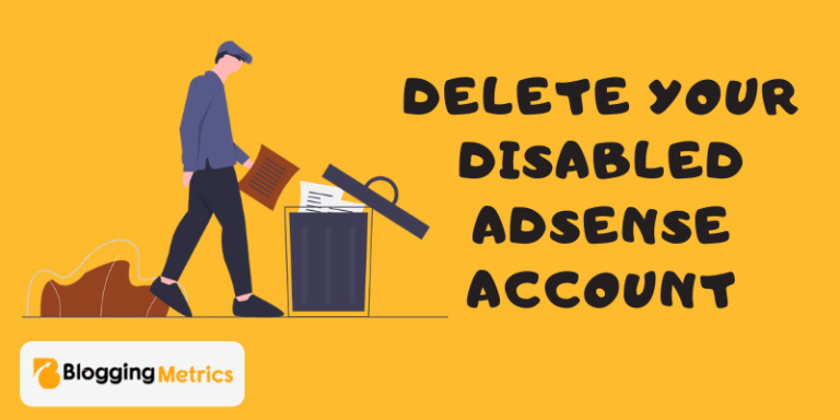 delete disabled adsense account