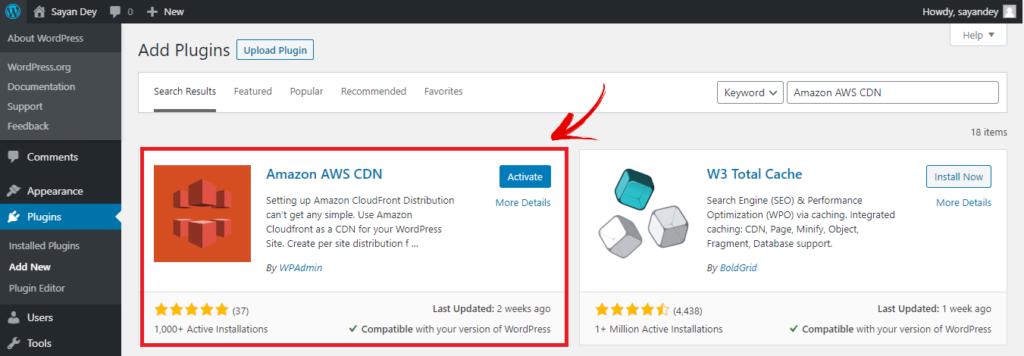 Amazon AWS CDN Plugin
