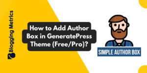 How to Add Author Box In GeneratePress