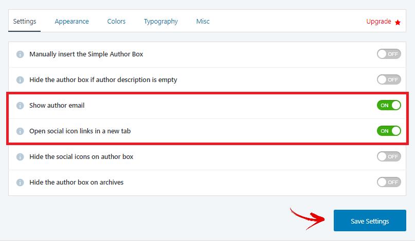 simple author box plugin setting