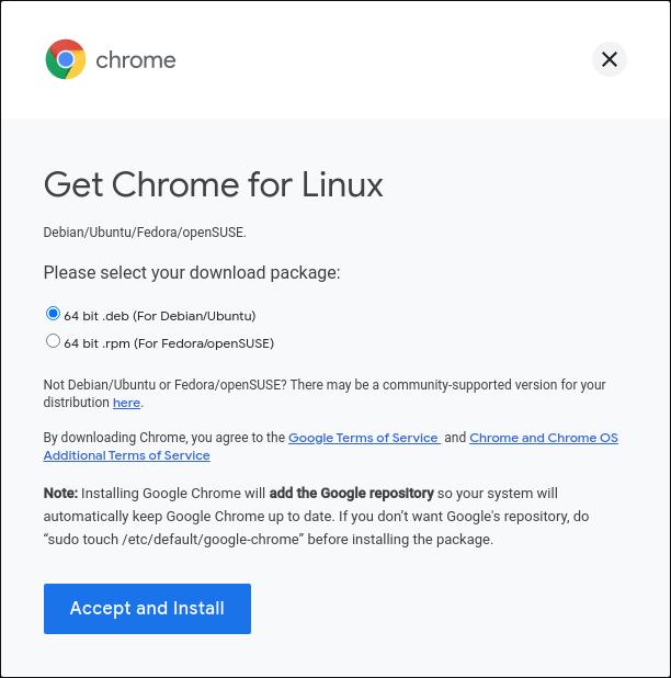 choose deb file for ubuntu